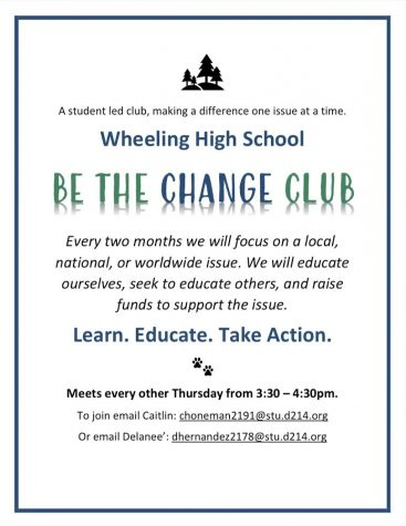 "New Student-Led ""Be The Change"" Club"